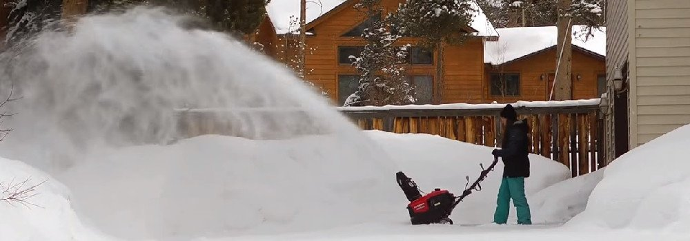Gas for snow blower