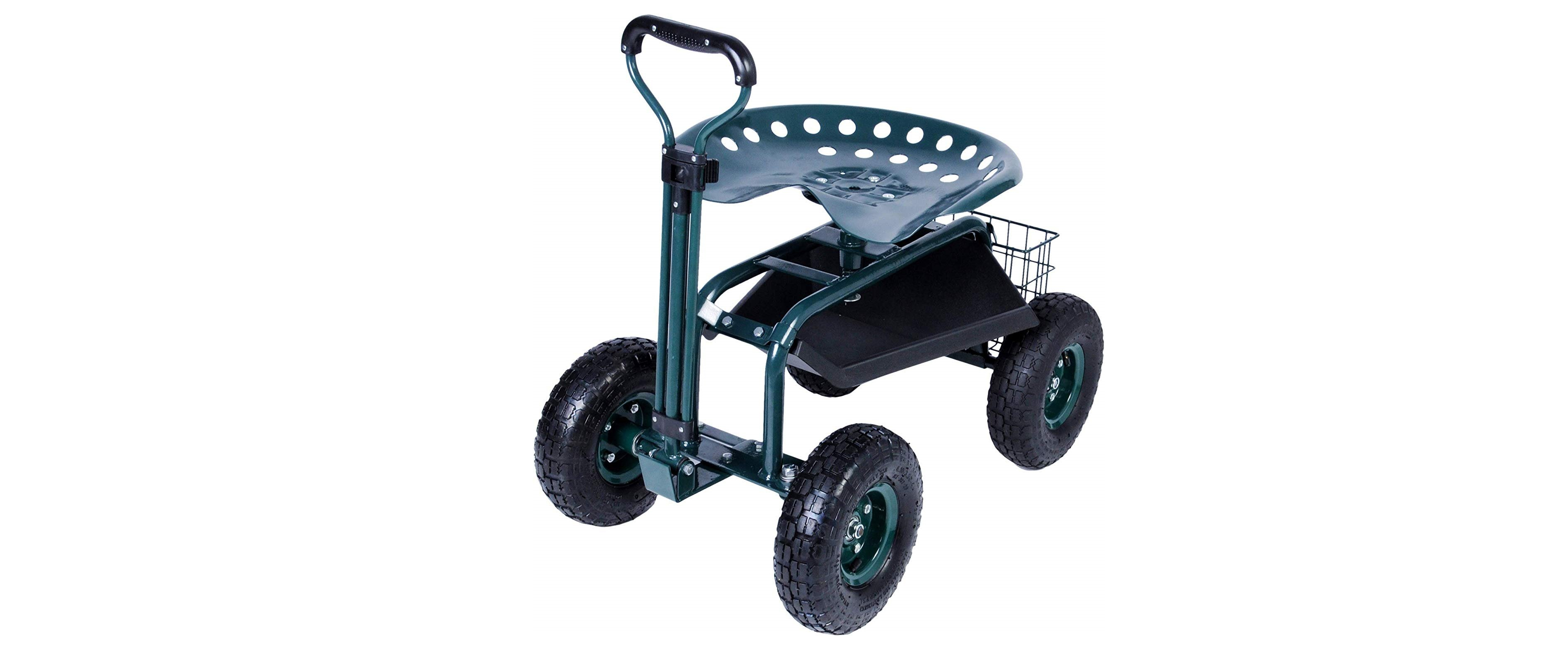 KARMAS PRODUCT Steerable Garden Stool Cart Review