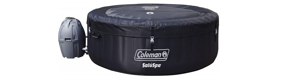 Coleman 71 x 26 Portable Spa Inflatable 4-Person Hot Tub, Black, 13804 (2)