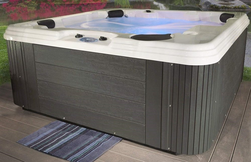 Essential Hot Tubs 50 Jets Polara Sterling Silver Shell, Gray (1)