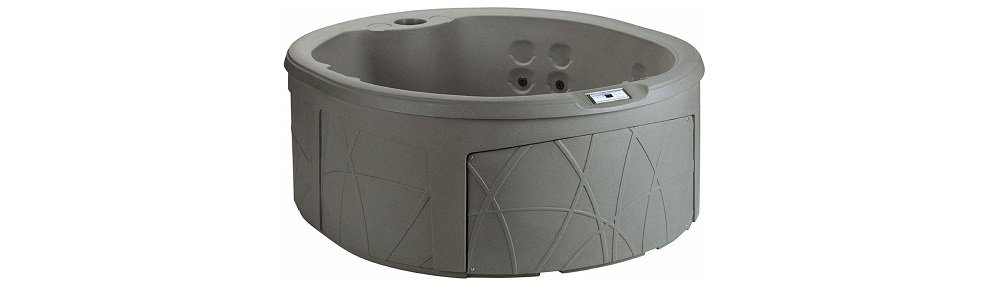 LifeSmart Spas LS200-T 4 Person Round 110V Outdoor Hot Tub with 13 Jets and Cover (1)