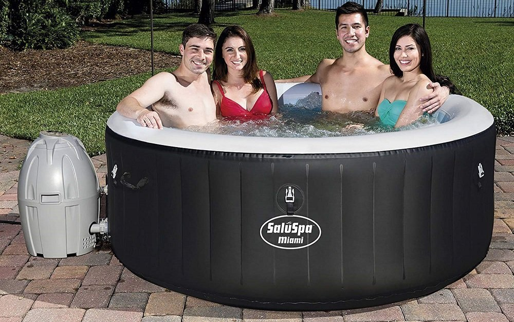 SaluSpa Miami AirJet Inflatable Hot Tub (1)
